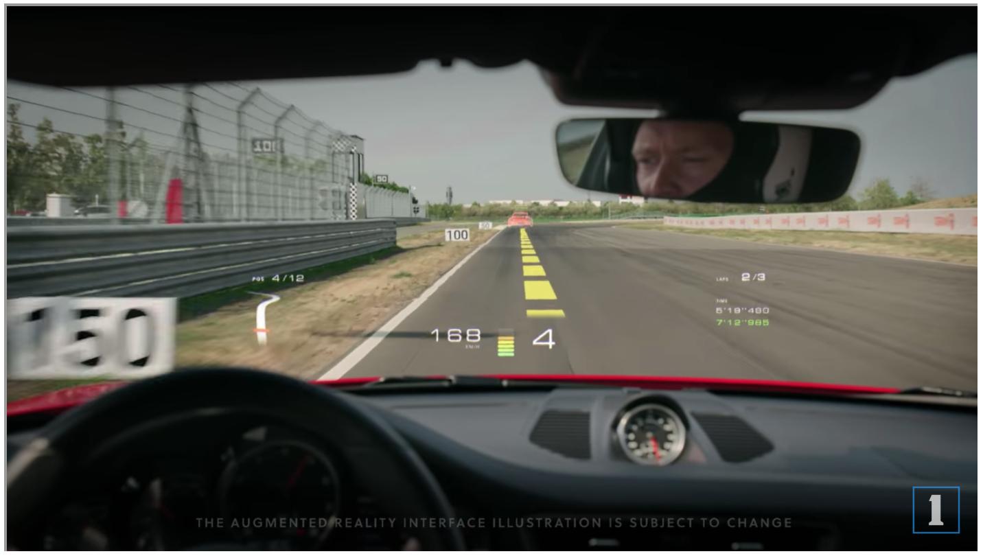 Porsche AR Windshield automotive