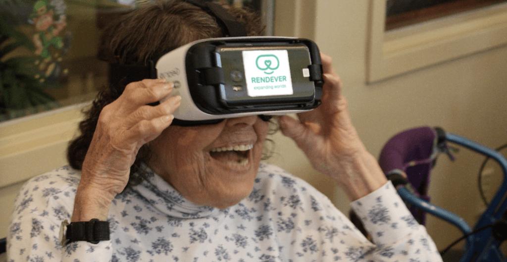 elderly woman VR healthcare