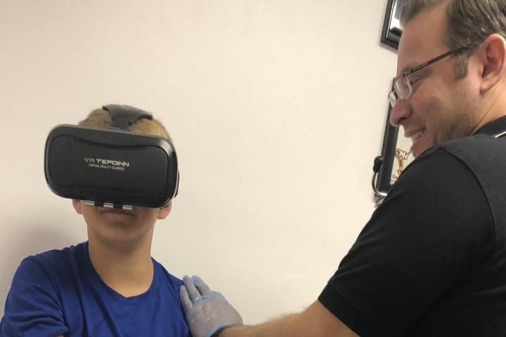 VR vaccines children medical healthcare