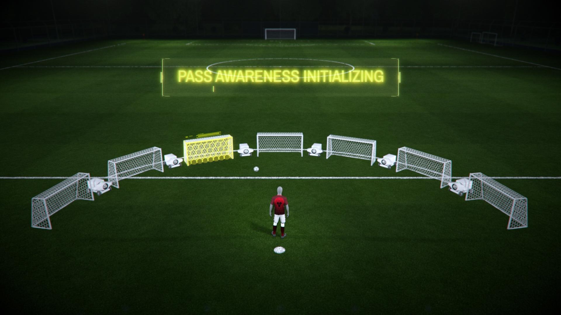 VR football training